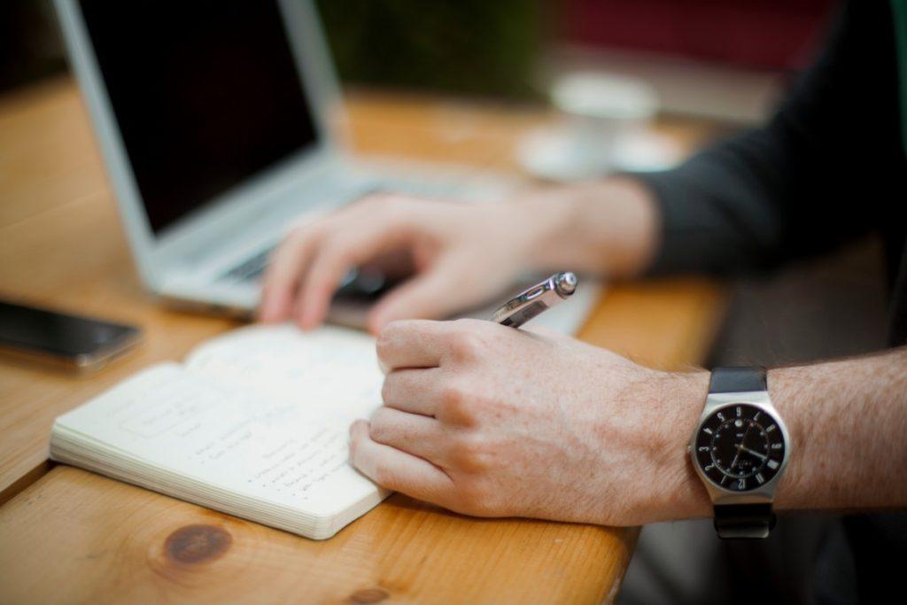 writing_notebook_watch_work_hand-